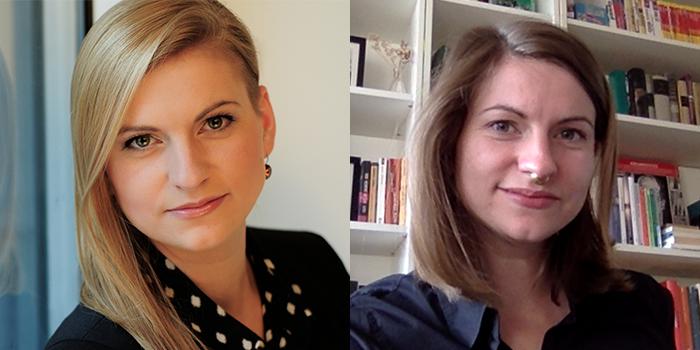Portrait von Doreen Kunze vor und während des Home Offices