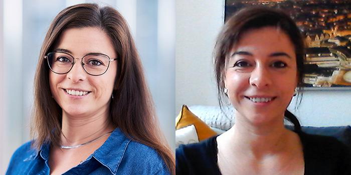 Portrait von Maria Sihorsch vor und während des Home Offices